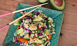 Thai Coleslaw with Avocado