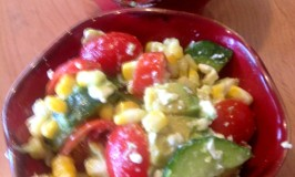 Grilled Corn Salad with Vinaigrette