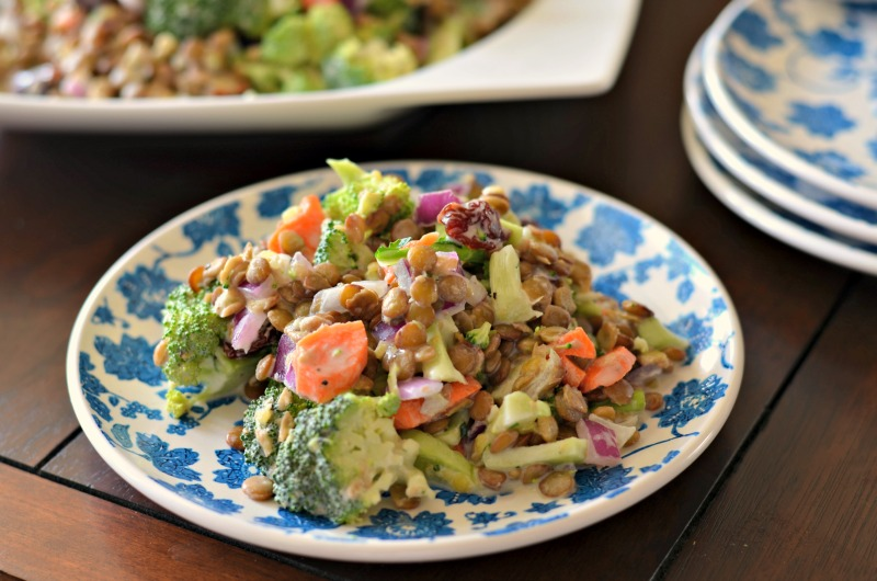 Fresh Broccoli Lentil Salad