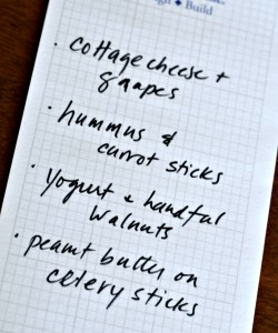 Make a snack list