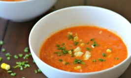 Roasted Tomato, Pepper and Corn Chowder