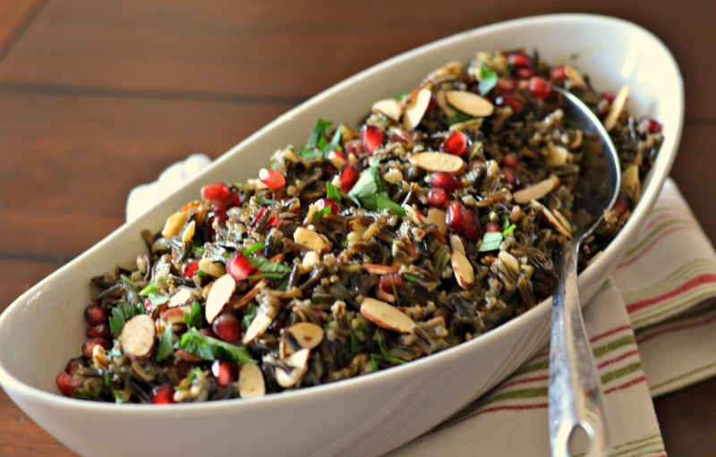 Wild Rice and Almond-Pomegranate Pilaf Stuffing