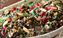 Wild Rice and Almond-Pomegrante Pilaf