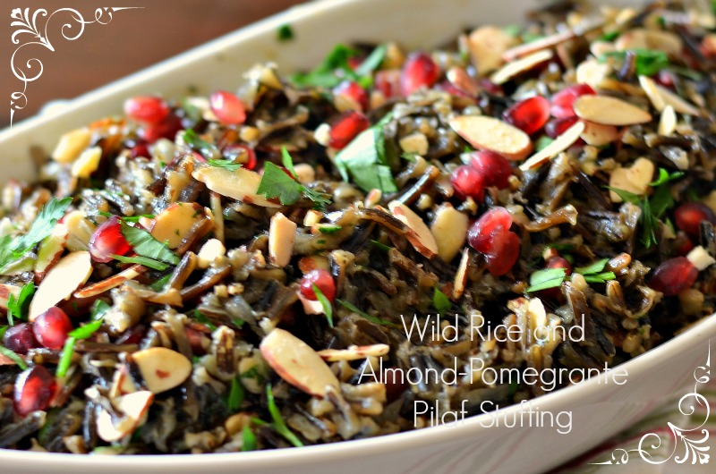 Wild Rice and Almond-Pomegrante Pilaf Stuffing