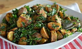 Warm Roasted Potato and Kale Salad