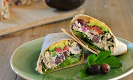 Mediterranean Tuna Avocado Wrap