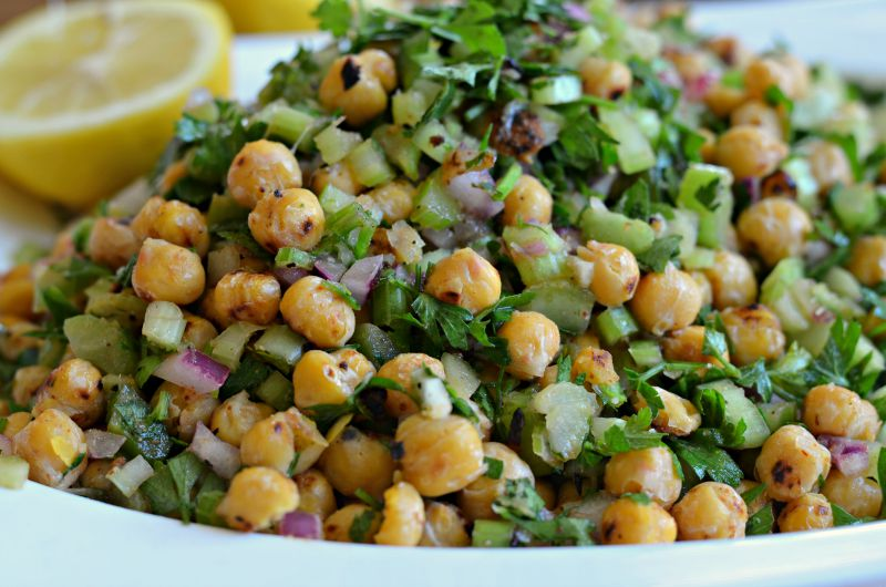 Lemony Chickpea and Parsley Salad