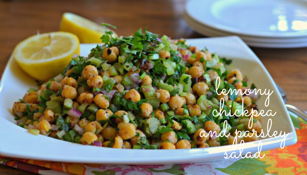 Lemony Chickpea Parsley Salad from Bodyofeve.com